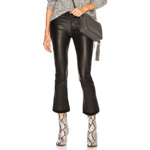 Theory lamb leather Erstina Cropped pants